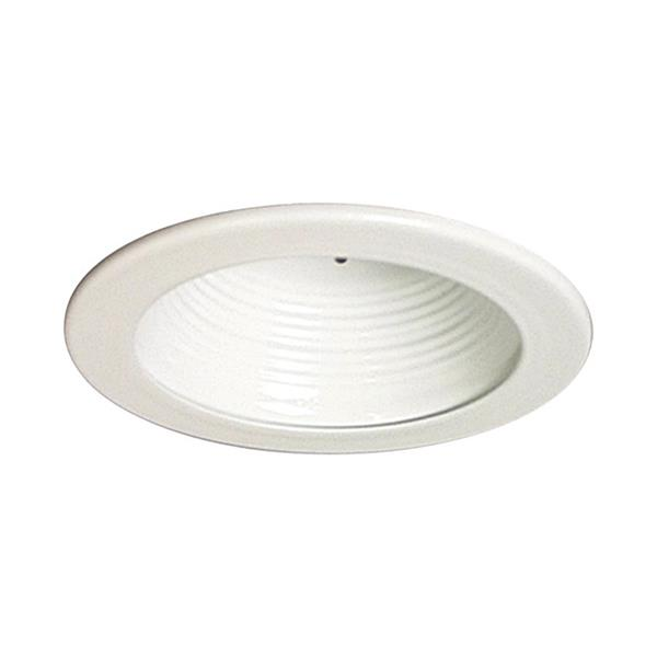 Galaxy White Baffle Recessed Light Trim (Fits Housing Diameter: 4-in)