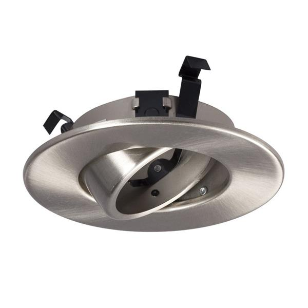 Galaxy Gimbal 4-in Brushed Nickle Recessed Lighting Trim