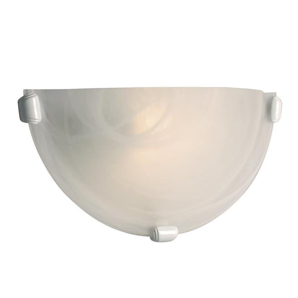 Galaxy 12.12-in W 1-Light White Pocket Wall Sconce
