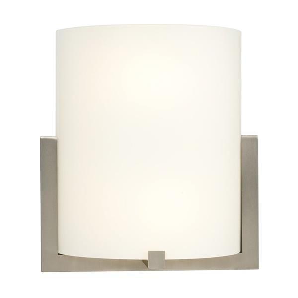 Galaxy 10.25-in W 1-Light Brushed Nickel Pocket Wall Sconce
