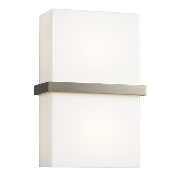 Galaxy 8-in W 1-Light Brushed Nickel Pocket Wall Sconce