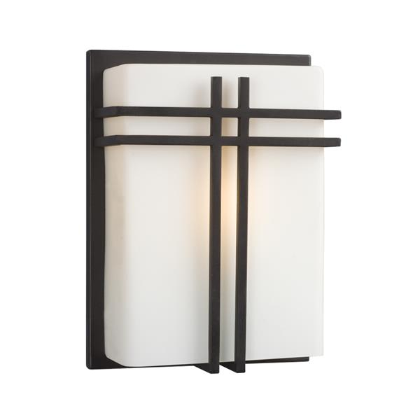 Galaxy 8-in W 1-Light Bronze Craftsman Hardwired Standard Wall Sconce
