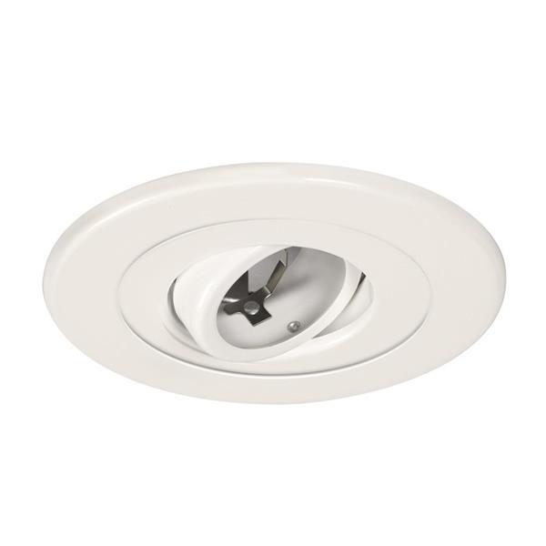 Galaxy Gimbal 5-in White Recessed Lighting Trim