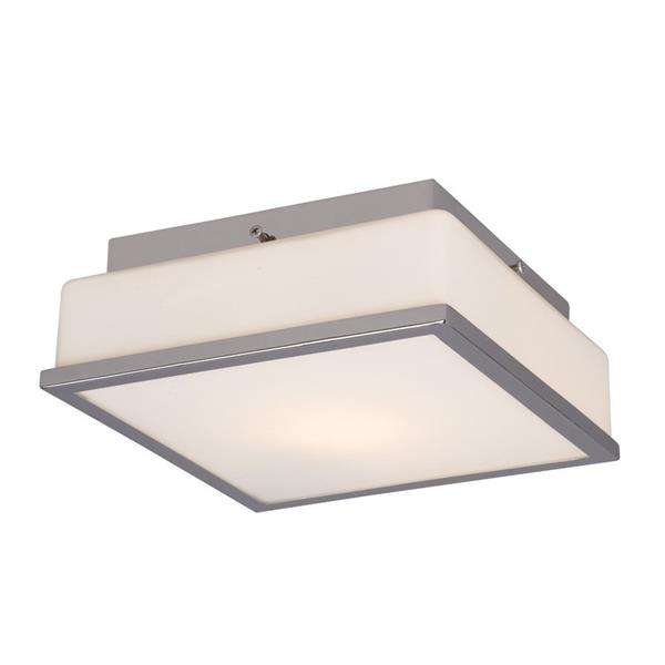 Galaxy 8.5-in Chrome Flush Mount Light