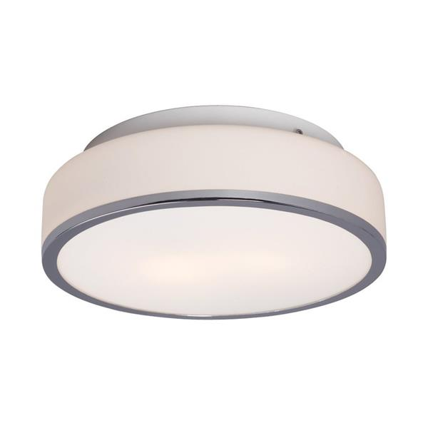 Galaxy 11.62-in Chrome Flush Mount Light