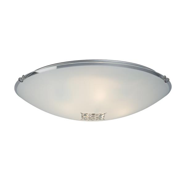 Galaxy Crystal Accent 20-in Polished Chrome Flush Mount Light