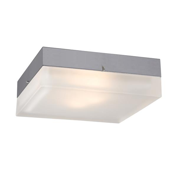 Galaxy 9-in Chrome Flush Mount Light
