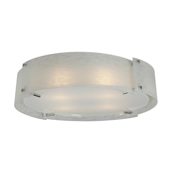 Galaxy Quoizel Galaxy Madeo Lighting 22.25-in Polished Chrome Flush Mount Light