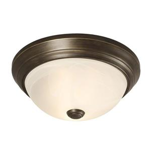 Galaxy Quoizel Galaxy Lighting 11.125-in Oil Rubbed Bronze Flush Mount Light
