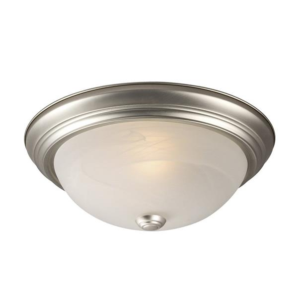 Galaxy Quoizel Galaxy Lighting 13.125-in Pewter Flush Mount Light