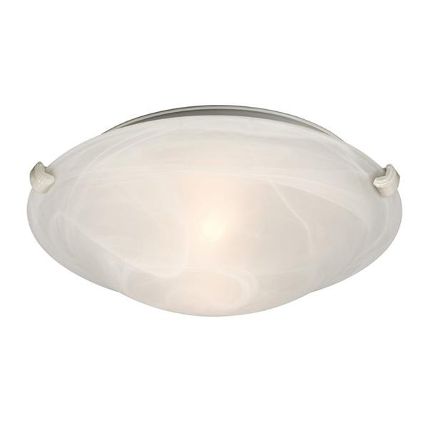 Galaxy Quoizel Galaxy Lighting Ofelia 12.75-in White Flush Mount Light