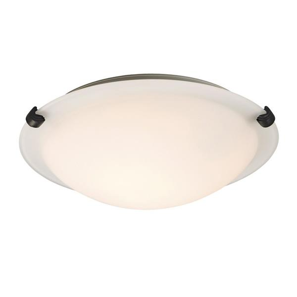 Galaxy Quoizel Galaxy Lighting Ofelia 12.75-in Oil-Rubbed Bronze Flush Mount Light