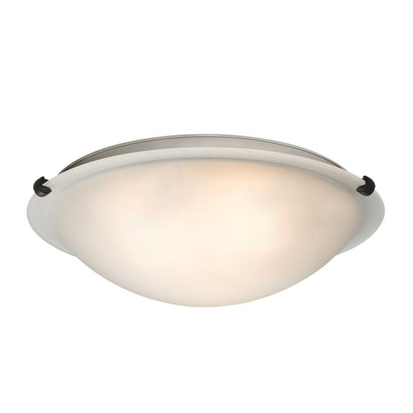 Galaxy Quoizel Galaxy Lighting Ofelia 16.125-in Oil-Rubbed Bronze Flush Mount Light