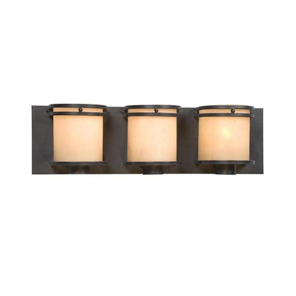 Galaxy Madison 20.25-in x 5.87-in 3 Light Charcoal Black Vanity Light