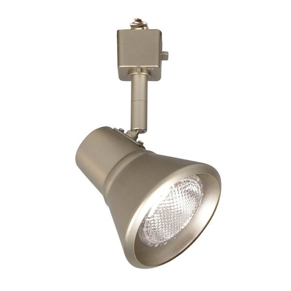 Galaxy 1 Light Dimmable Pewter Step Linear Track Lighting Head