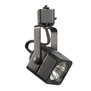 Galaxy 1 Light Dimmable Black Gimbal Linear Track Lighting Head