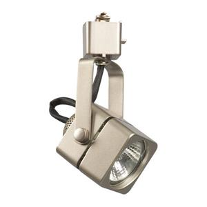 Galaxy 1 Light Dimmable Pewter Gimbal Linear Track Lighting Head