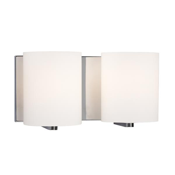 Galaxy Cyl 11.75-in x 6.25-in 2 Light Polished Chrome Cylinder Vanity Light
