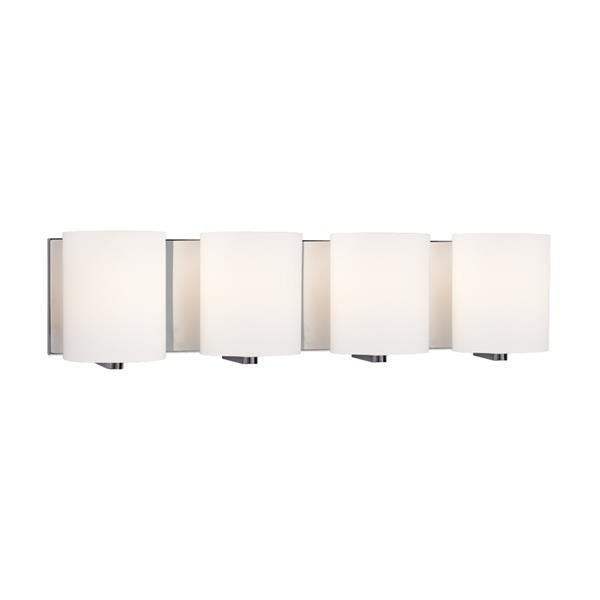 Galaxy Cyl 25.50-in x 6.25-in 4 Light Polished Chrome Cylinder Vanity Light