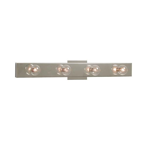 Galaxy 24-in x 2.88-in 4 Light Chrome Rectangular Vanity Light Bar