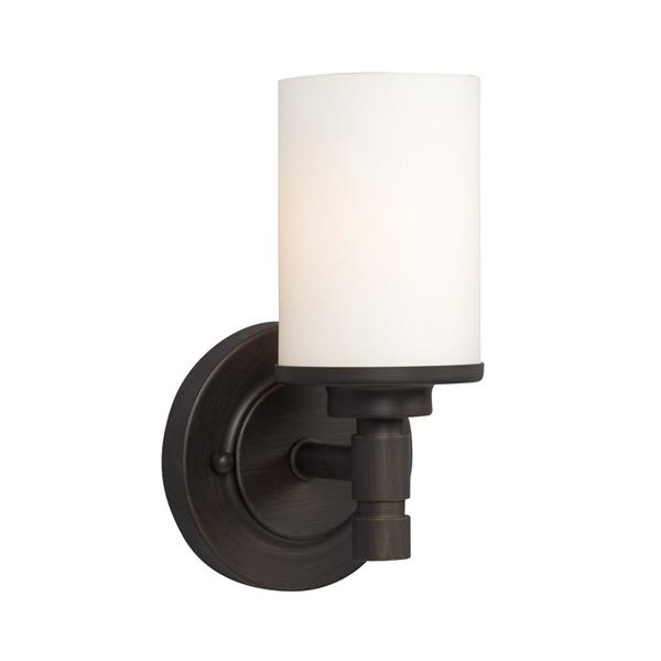Galaxy Brighton 5-in x 9.25-in 1 Light Oil Rubbed Bronze Cylinder Vanity Light