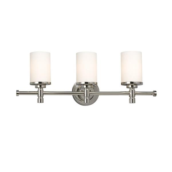 Galaxy Brighton 5-in x 24-in 3 Light Chrome Cylinder Vanity Light