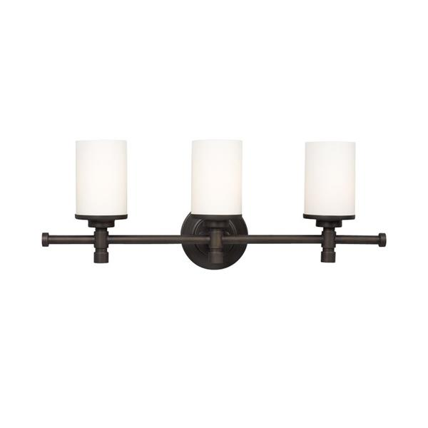 Galaxy Brighton 5-in x 24-in 3 Light Oil Rubbed Bronze Cylinder Vanity Light