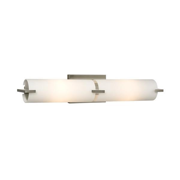 Galaxy Kona 4.25-in x 22-in 2 Light Pain Brushed Nickel Cylinder Vanity Light Bar