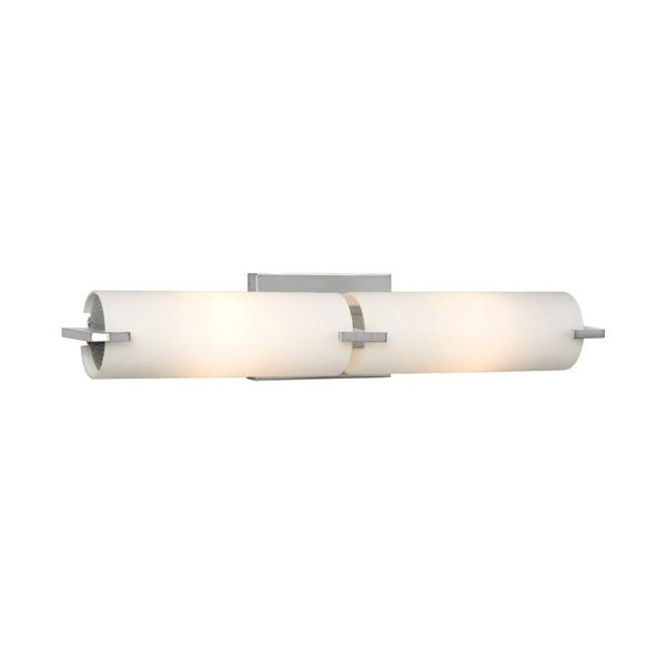 Galaxy Kona 4.25-in x 22-in 2 Light Pain Chrome Cylinder Vanity Light Bar