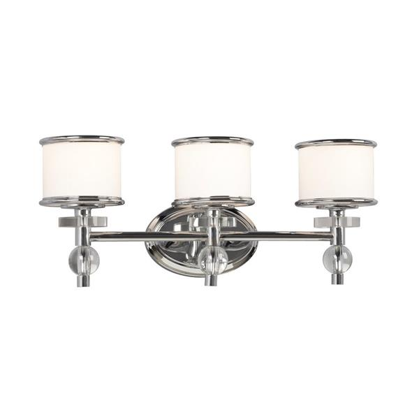 "Galaxy Hilton 22-in x 9.18-in 3 Light Chrome Drum Vanity LightHilton Vanity Light - 3 Lights - 22"" x 18"" - Chrome"