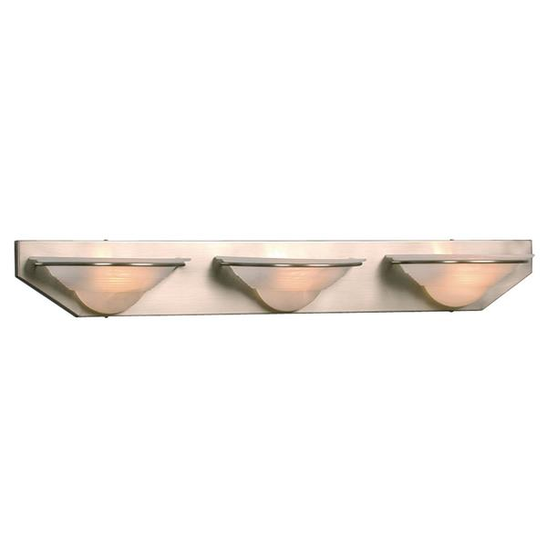 Galaxy Blanda 36- in x 5-in 3 Light Pewter Bowl Vanity Light