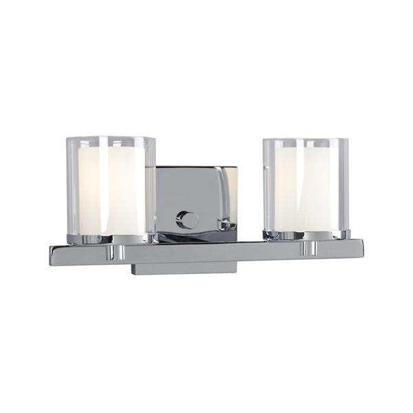 Galaxy Alden 13-in x 5.50-in 2 Light Polished Chrome Cylinder Vanity Light