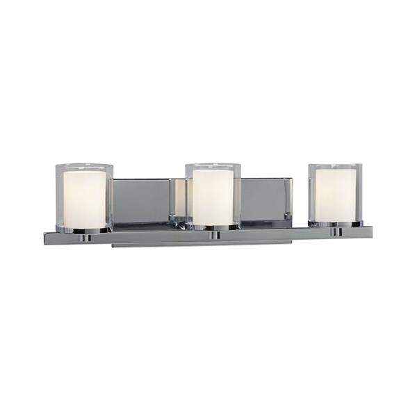 Galaxy Alden 21-in x 5.50-in 3 Light Polished Chrome Cylinder Vanity Light
