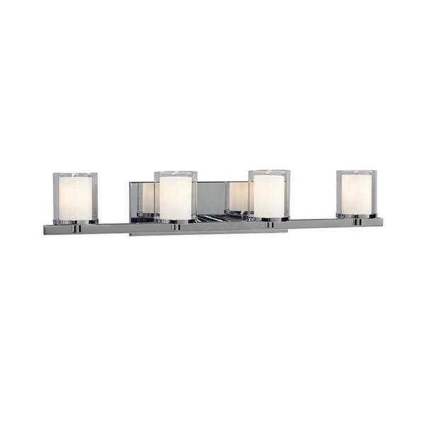 Galaxy Alden 29-in x 5.50-in 4 Light Polished Chrome Cylinder Vanity Light
