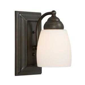 Galaxy Barclay 4.5-in W 1-Light Oil-Rubbed Bronze Arm Wall Sconce