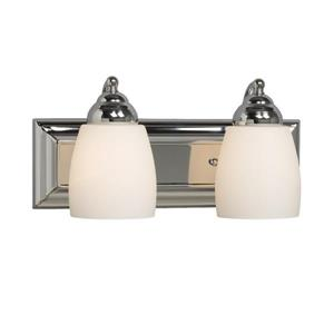 Galaxy Barclay 14-in x 6.75-in 2 Polished Chrome Bell Vanity Light