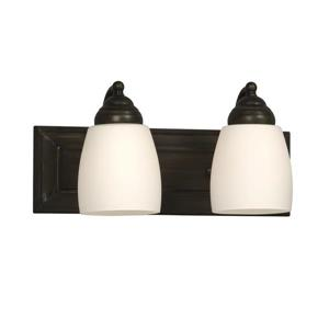 Galaxy Barclay 14-in x 6.75-in 2 Oil rubbed Bronze Bell Vanity Light