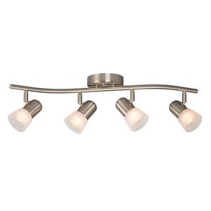Galaxy Luna III 26.5-in Brushed Nickel 4-Light Track Bar Fixed Track Light Kit