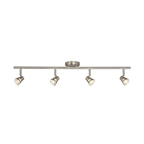 Galaxy 35-in Brushed Nickel 4-Light Track Bar Fixed Track Light Kit