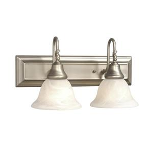 Galaxy Adelaide 18-in x 9.12-in 2 Light Pewter Bell Vanity Light