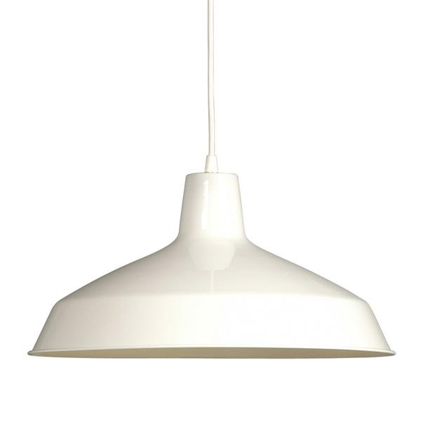 Galaxy 15.62-in White Transitional Warehouse Pendant Lighting