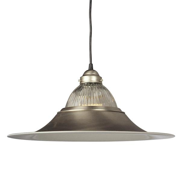 Galaxy 18-in Pewter Transitional Bell Pendant Lighting