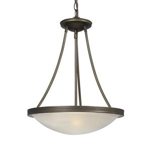 Galaxy Julian 15-in x 18-in Oil Rubbed Bronze Transitional Bowl Pendant Lighting