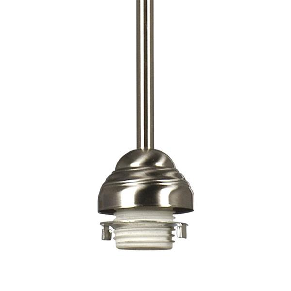 Galaxy 5-in x 43.5-in Brushed Nickel Transitional Mini Pendant Lighting
