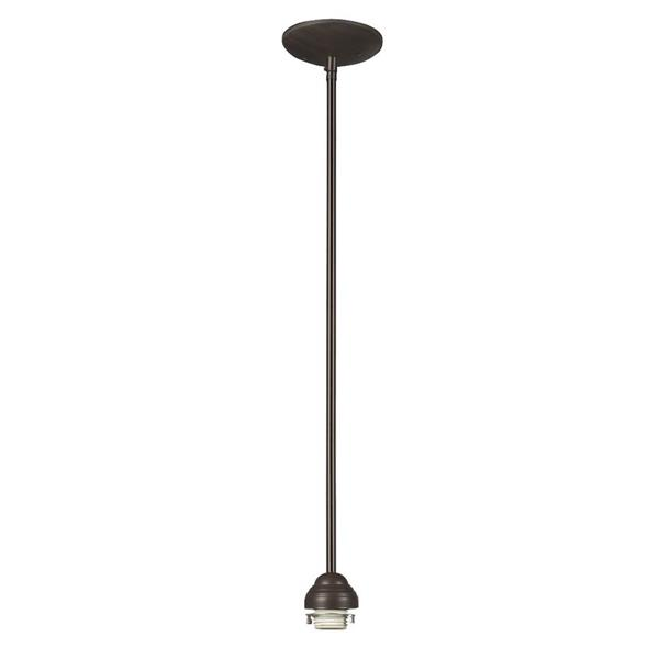 Galaxy 5-in Old Bronze Bell Transitional Mini Pendant Lighting