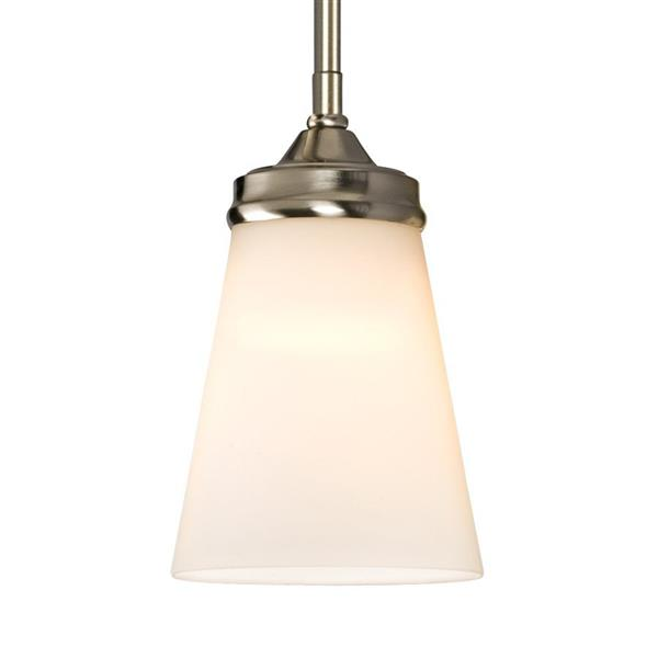 Galaxy Franklin 4.5-in x 7-in Brushed Nickel Modern Bell Mini Pendant Lighting