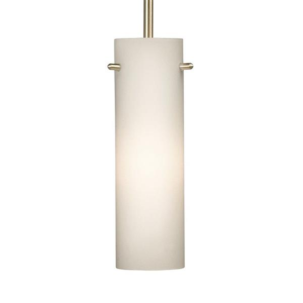Galaxy 3.12-in x 7.88-in Brushed Nickel Modern Cylinder Mini Pendant Lighting