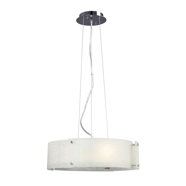 Galaxy Madeo 18-in x 4.75-in Polished Chrome Modern Drum Pendant Lighting