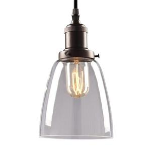 Galaxy Vintage 6-in Bronze Clear Glass Transitional Mini Pendant Lighting
