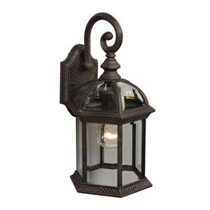 Galaxy 15.25-in Antique Rust Clear Glass Outdoor Wall Light